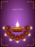 Elegant card design for diwali festival Stock Images