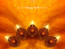 Elegant card design for diwali festival Stock Photos