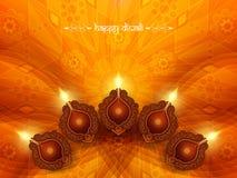 Elegant card design for diwali festival Stock Photos