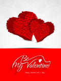 Elegant card design for valentines day Royalty Free Stock Images