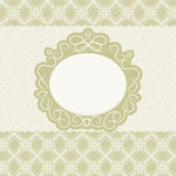 Elegant card design, vintage frame. EPS 8 Stock Photography