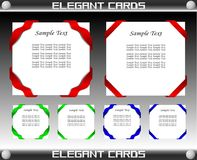 Elegant Card Template Set Vector Stock Photography
