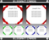 Elegant Card Template Set Vector Stock Photography