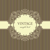 Elegant card with vintage frame Royalty Free Stock Photos