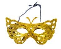 Elegant carnival mask for the Mardi Gras festival, isolated on white background. Studio Photo Stock Photos