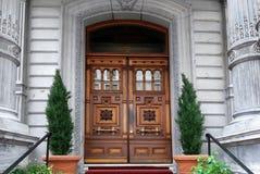 Elegant carved door Stock Photos