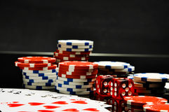 Elegant casino theme with ambient light Stock Images