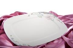 Elegant ceramic plate Stock Photos