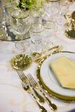 Elegant ceremony table Stock Image