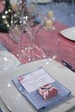 Elegant ceremony table Stock Images