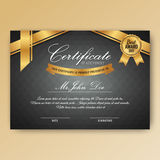 Elegant certificate of achievement with ornaments Royalty Free Stock Photography