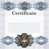Elegant certificate design in vintage style vector illustration