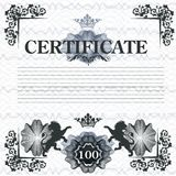 Elegant certificate design in vintage style Royalty Free Stock Photos