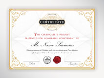 Elegant certifikatmall royaltyfri illustrationer