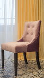 Elegant chair with fabric upholstery Royalty Free Stock Photos