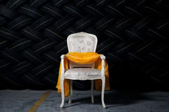 Elegant chair in grunge environment Stock Photo