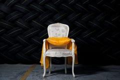 Elegant chair in grunge environment Stock Photo