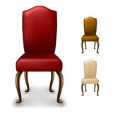 Elegant chair set. From front view, isolated on white Stock Photos