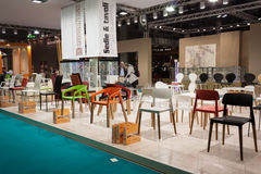 Elegant chairs at Host 2013 in Milan, Italy Royalty Free Stock Photography