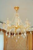 Elegant chandelier glass Stock Photos