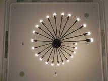 Elegant chandeliers stock photo