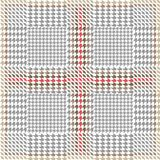Elegant checkered hounds tooth print for suits and coats. Seamless vector pattern with grey geometric elements. Royalty Free Stock Images
