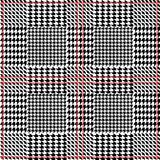 Elegant checkered hounds tooth print for suits and coats. Seamless vector pattern with grey geometric elements. Stock Photo