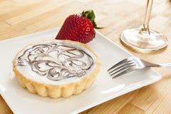 Elegant Cheesecake Tart Stock Photo