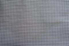 Elegant chequered grey cotton fabric Stock Image