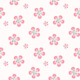 Elegant cherry blossom seamless pattern background Stock Photos