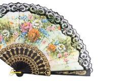 Elegant chinese fan. Isolated over white background Stock Image