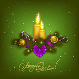 Elegant Christmas background with balls Royalty Free Stock Photos