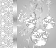 Elegant christmas background with baubles Stock Images