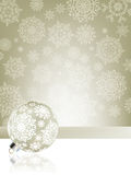 Elegant christmas background with baubles. EPS 8 Stock Image