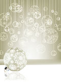 Elegant christmas background with baubles. EPS 8 Royalty Free Stock Photo