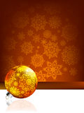 Elegant christmas background with baubles. EPS 8 Royalty Free Stock Photography