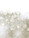 Elegant christmas background with baubles. EPS 8 Royalty Free Stock Photos
