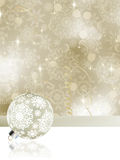 Elegant christmas background with baubles. EPS 8 Stock Photography