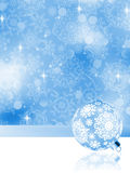 Elegant christmas background with baubles. EPS 8 Stock Photo