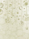 Elegant christmas background with baubles. EPS 8 Royalty Free Stock Image