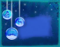 Elegant christmas background with baubles Royalty Free Stock Images