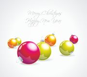 Elegant christmas background with baubles Stock Photos
