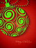 Elegant Christmas background with Christmas ball Stock Photo