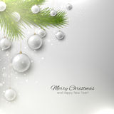 Elegant christmas background with Christmas tree and Christmas t Royalty Free Stock Photography