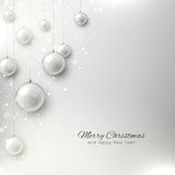 Elegant christmas background with Christmas tree and Christmas t Royalty Free Stock Photo