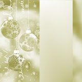 Elegant Christmas background. EPS 8. Elegant Christmas background with three evening balls and gold garlands. EPS 8 vector file included Royalty Free Stock Image