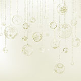 Elegant Christmas background. EPS 8. Elegant Christmas background with three evening balls and gold garlands. EPS 8 vector file included Stock Image