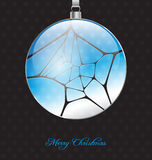 Elegant christmas background with glossy christmas ball embellis Stock Image