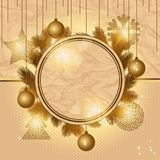 Elegant Christmas background with gold evening Royalty Free Stock Photography