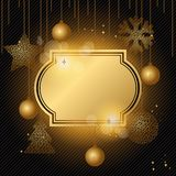Elegant Christmas background with gold evening Royalty Free Stock Images